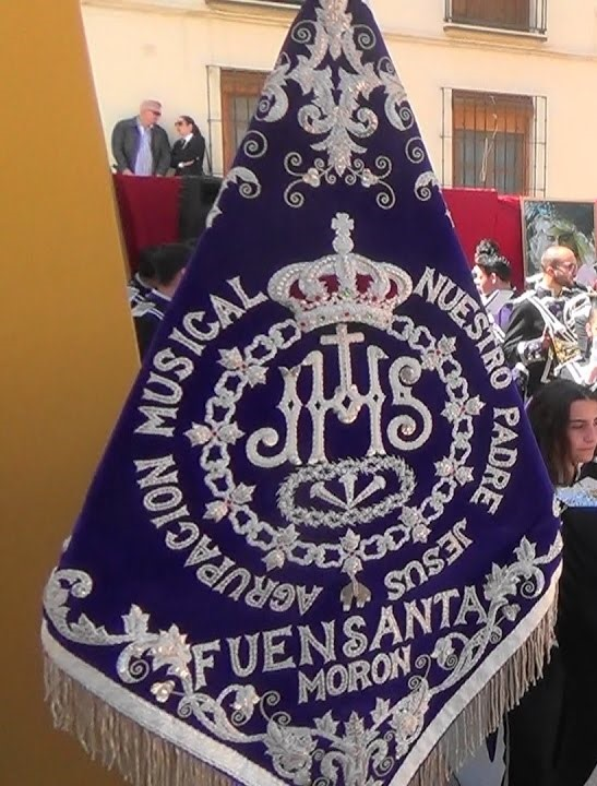 """Banderín de la Agrupación Musical """"Nuestro Padre Jesús de la Fuensanta"""" de Morón de la Frontera (Sevilla)"""