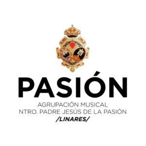"""Escudo de la Agrupación Musical """"Nuestro Padre Jesús de la Pasión"""" de Linares"""