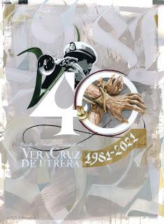 Logotipo del XL Aniversario de la Vera+Cruz de Utrera